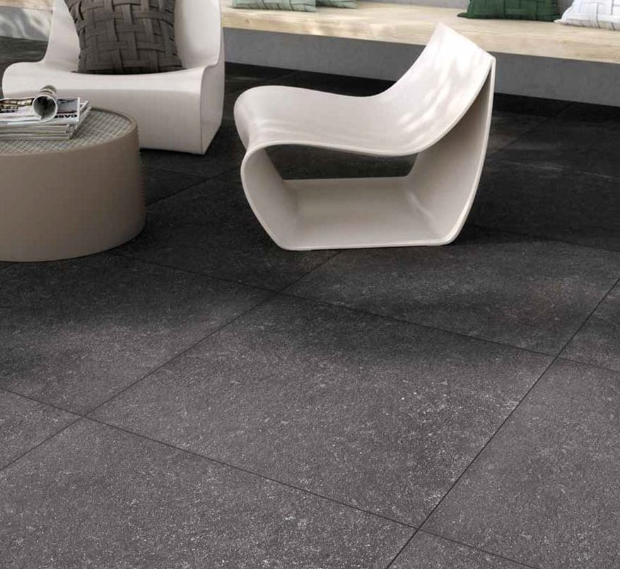 Out Mineralstone Black 76×76 20 mm