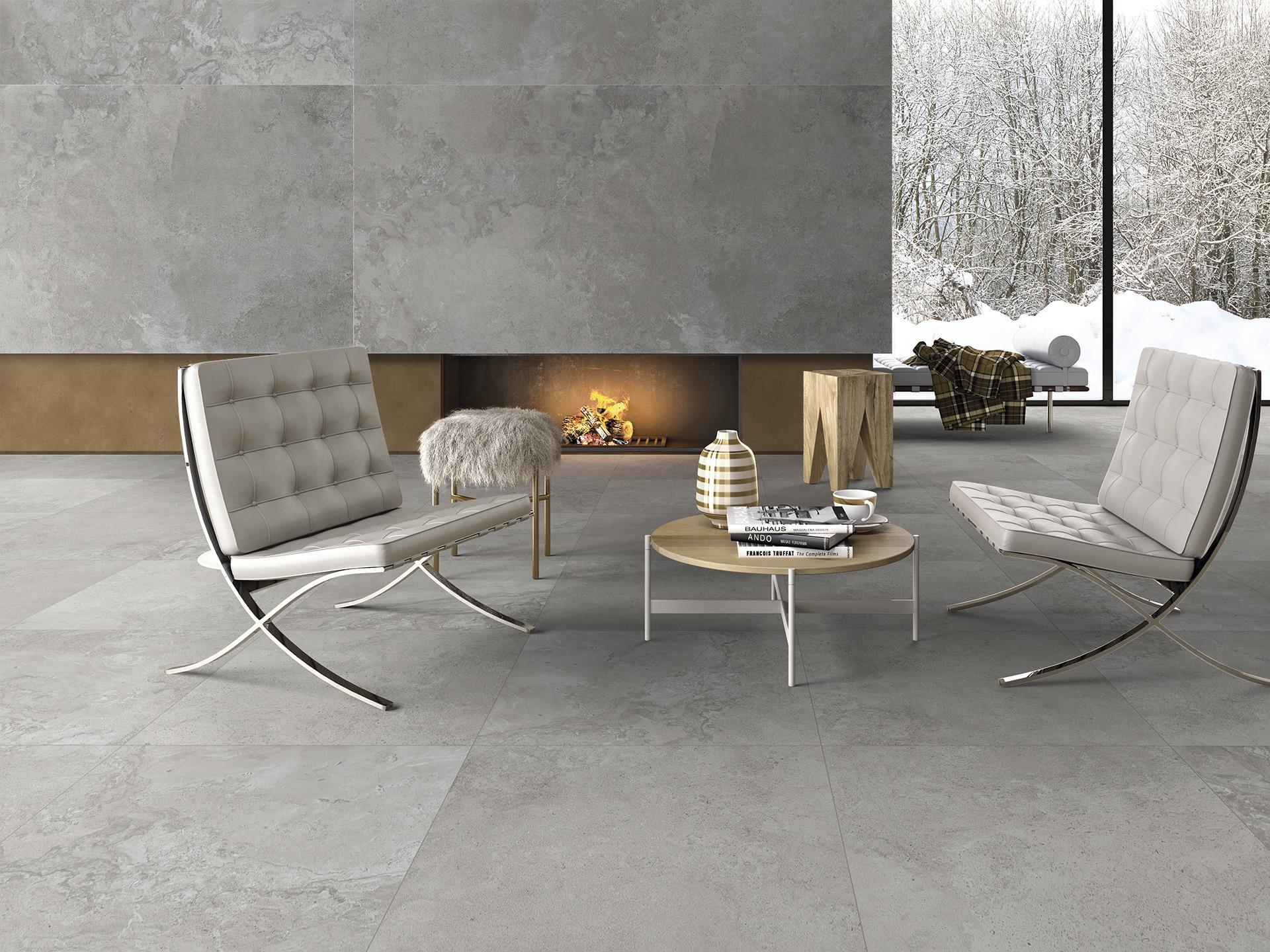 Tuintegels Terrastegels 80x80 Terrastegels.Rock Slabs Grey 80x80 Keramische Tegels
